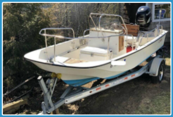 boston whaler 17ft FR 350-238